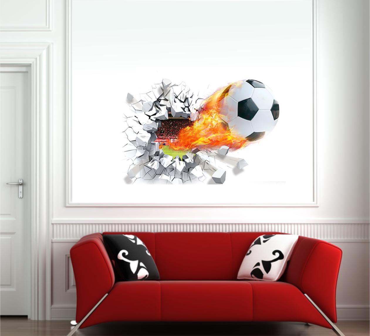 Exquisit Wandtattoo Fußball Dekoration Von 3d Fußball - Fussball Wanddurchbruch - Jetzt