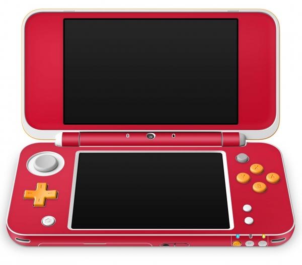 Nintendo 2DS XL Skin Aufkleber Design Schutzfolie Solid State Red