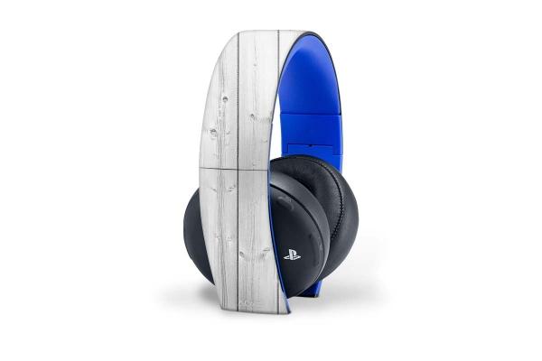 Sony PS4 Wireless 2.0 Headset Skin Aufkleber White Wood