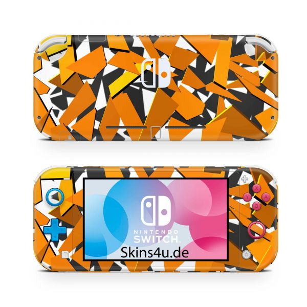 Nintendo Switch Lite Front & Back Skin Aufkleber Schutzfolie Signal Orange