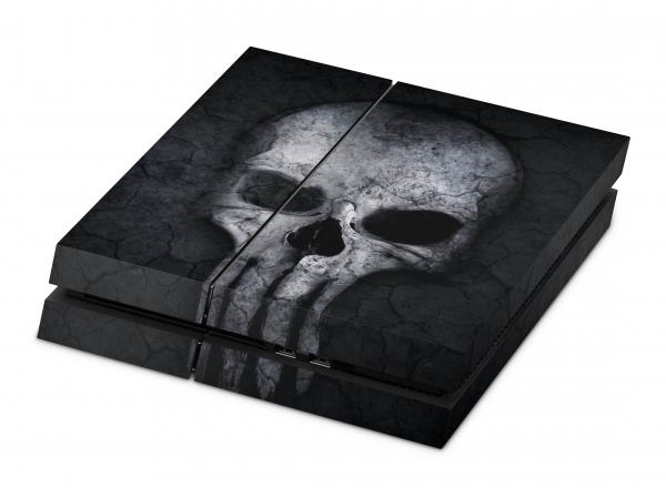 Sony Playstation 4 Aufkleber Skin PS4 Designfolie - Hard Skull