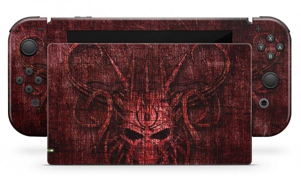 Nintendo Switch Skins Aufkleber Design Schutzfolie Set red Demon
