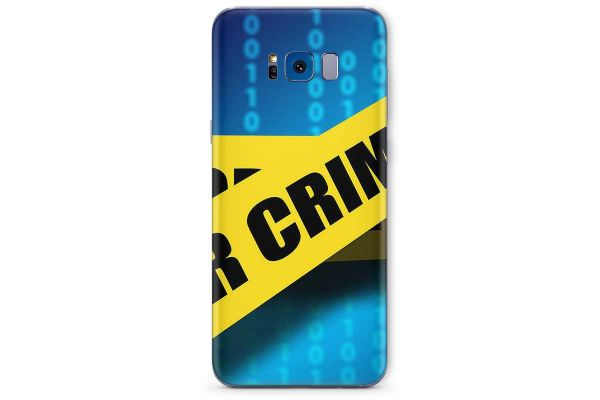 Samsung Galaxy S8 Skin Design Aufkleber - cyber-crime