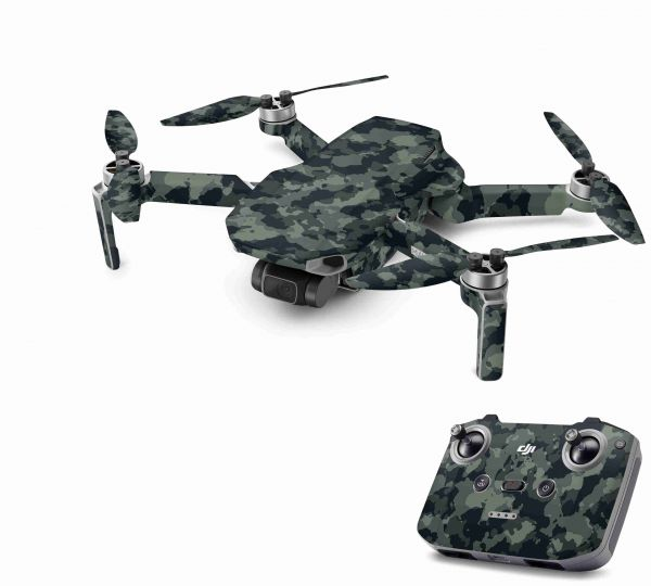 DJI Mavic Mini 2 Skin Aufkleber Wraps Skins Design Folie Dark green camo