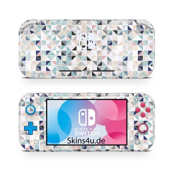 Nintendo Switch Lite Front & Back Skin Aufkleber Schutzfolie Polygon pwr3