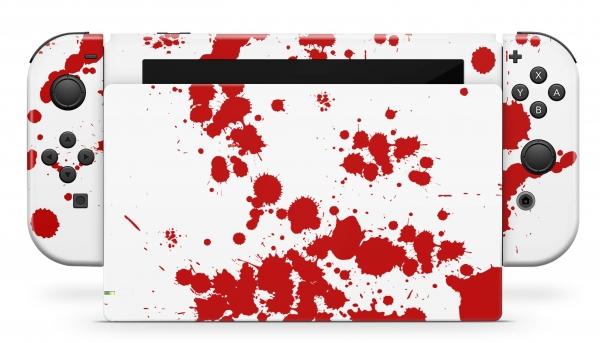 Nintendo Switch Skins Aufkleber Design Schutzfolie Set Blood