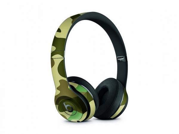 Beats Solo 3 Wireless Skin Design Aufkleber Schutzfolie Wood Camo