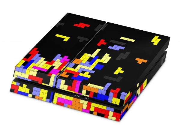 Playstation 4 Skin Designfolie Sticker Set PS4 Motiv - Tetrads classic Gaming