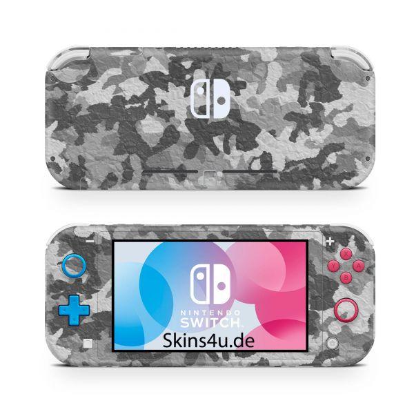 Nintendo Switch Lite Front & Back Skin Aufkleber Schutzfolie Urban Camo crumble