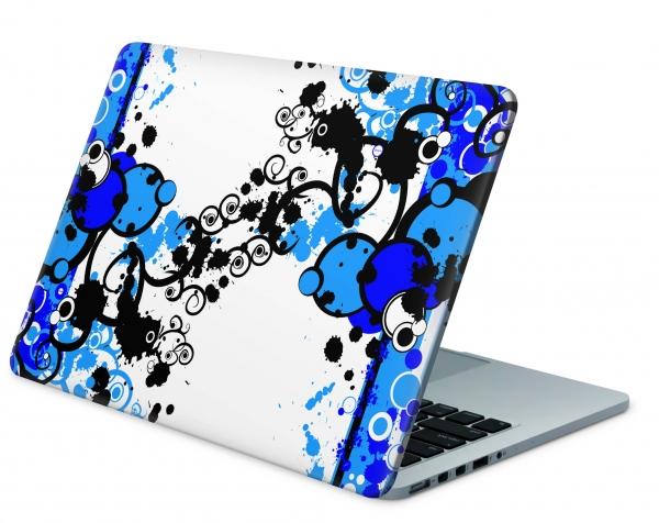 MacBook PRO Skin Aufkleber Decal Cover simple blue