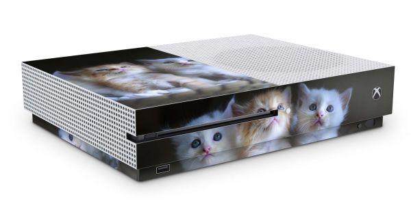 Xbox One S Skin Aufkleber Design Schutzfolie Kittys