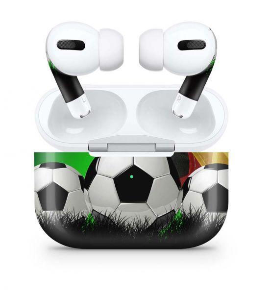 Apple AirPods Pro Skin Aufkleber Design Vinyl Skins Schutzfolie Fussball Deutschland