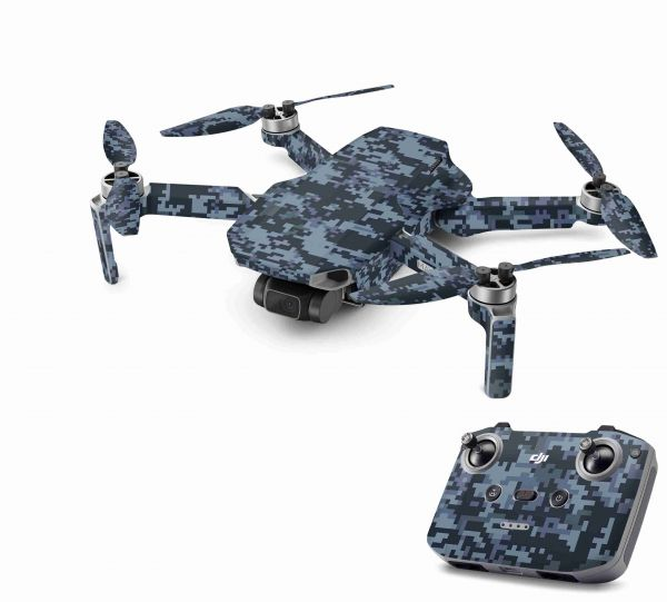 DJI Mavic Mini 2 Skin Aufkleber Wraps Skins Design Folie Digital navy Camo