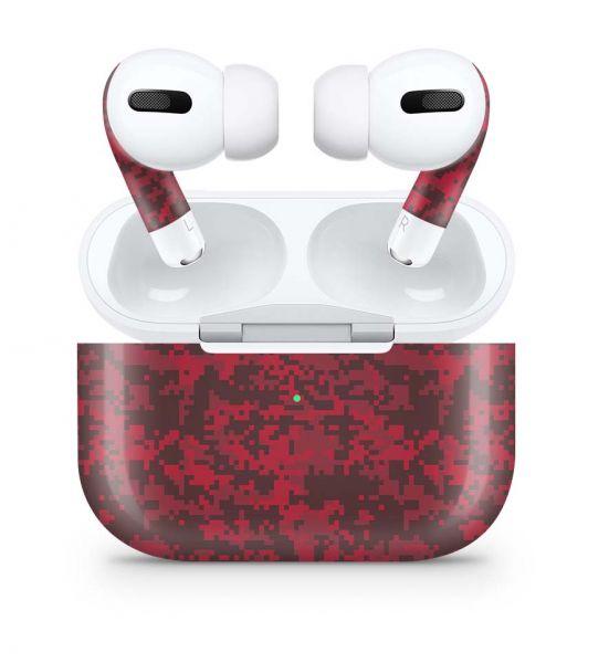 Apple AirPods Pro Skin Aufkleber Design Vinyl Skins Schutzfolie Digital Blood Camo