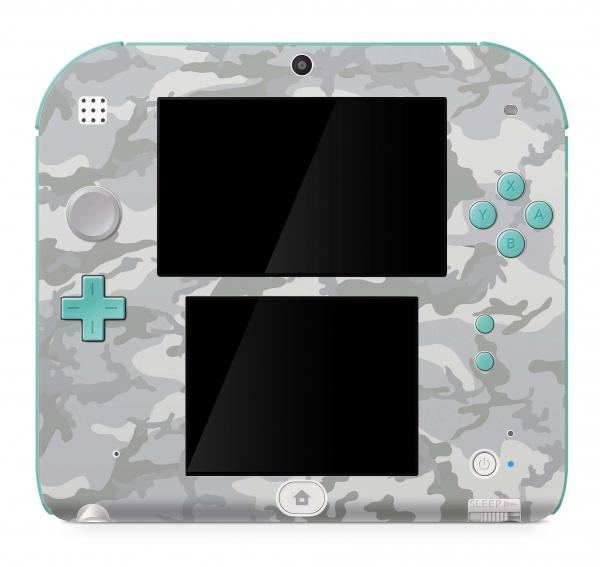 Nintendo 2DS Skin Aufkleber Design Schutzfolie White Camo 2018