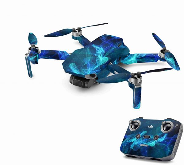 DJI Mavic Mini 2 Skin Aufkleber Wraps Skins Design Folie Star Spiral
