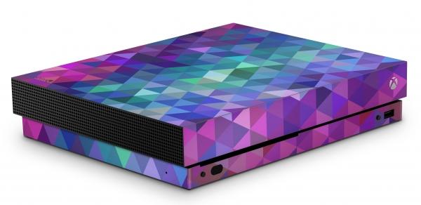Xbox One X Schutzfolie Skin Aufkleber Design - Charmed Diamond
