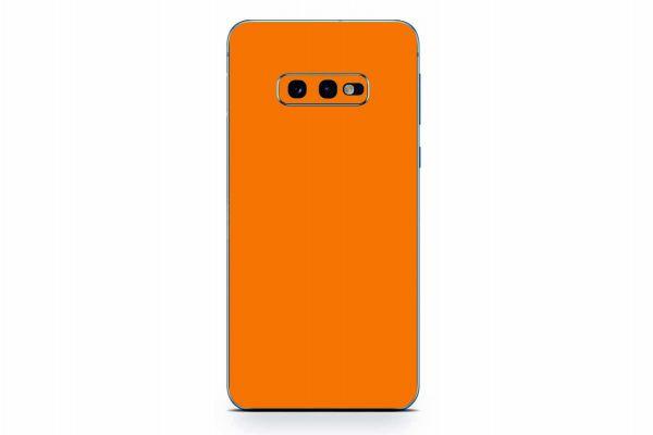 Samsung Galaxy S10 Skin Design Aufkleber - solid-orange