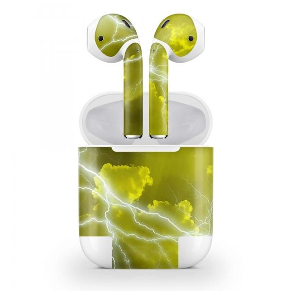 Apple AirPods Skin Aufkleber Design Vinyl Skins Wrap Schutzfolie Apocalypse Yellow