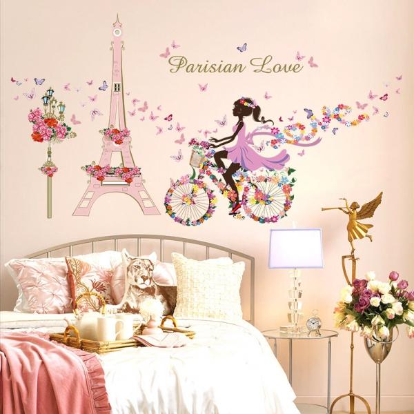 XXL Wandtattoo Fashion Paris Schmetterlinge