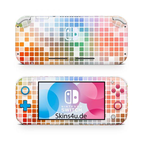 Nintendo Switch Lite Front & Back Skin Aufkleber Schutzfolie Color Lights 08