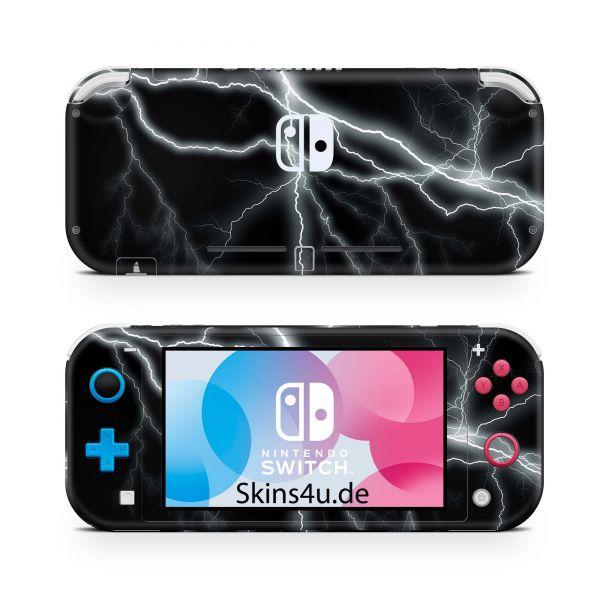 Nintendo Switch Lite Front & Back Skin Aufkleber Schutzfolie Apocalypse black