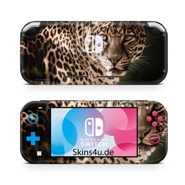 Nintendo Switch Lite Front & Back Skin Aufkleber Schutzfolie Leopard