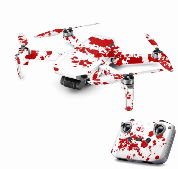 DJI Mavic Mini 2 Skin Aufkleber Wraps Skins Design Folie Blood