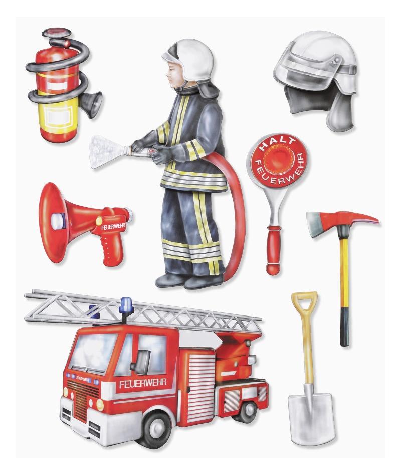 Wandtattoo Wandsticker Feuerwehr Kinderzimmer Skins4u