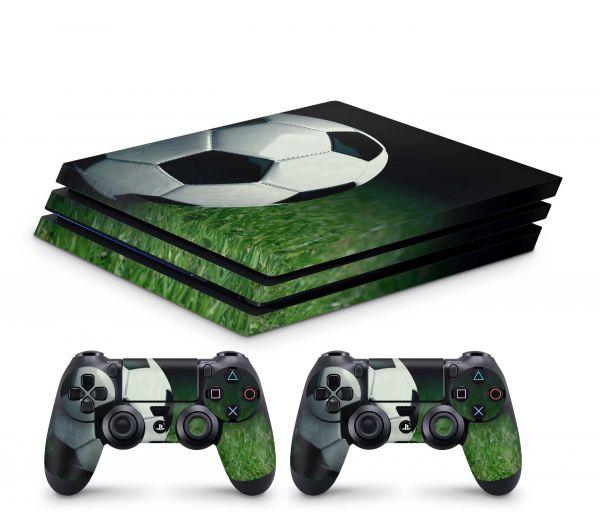 Playstation 4 Pro Skin Aufkleber + PS4 Controller Skins Soccer