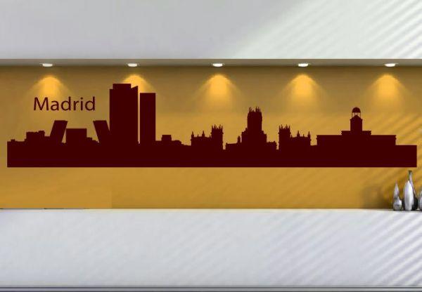 Wandtattoo Skyline Madrid