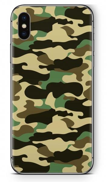 Apple iPhone X Skin Aufkleber Design Schutzfolie Wood Camo
