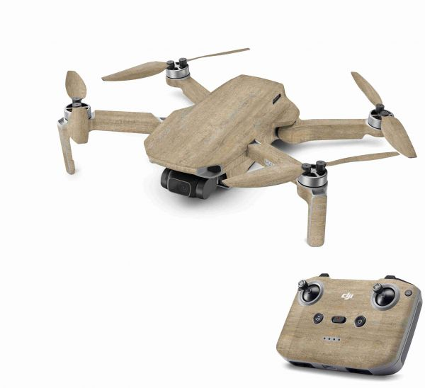DJI Mavic Mini 2 Skin Aufkleber Wraps Skins Design Folie Old Wood