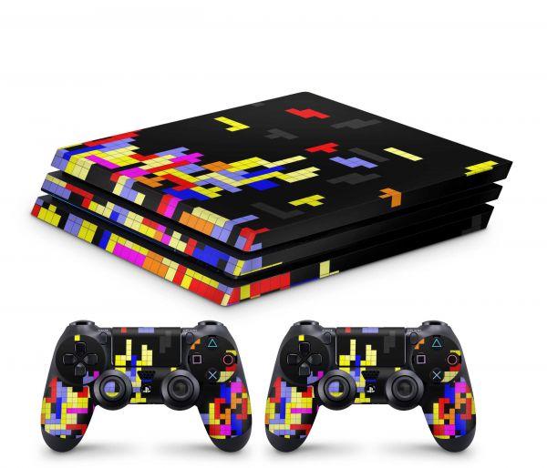 Playstation 4 Pro Skin Aufkleber + PS4 Controller Skins Tetrads
