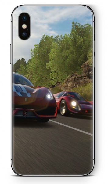 Apple iPhone XS MAX Skin Aufkleber Design Schutzfolie The Race