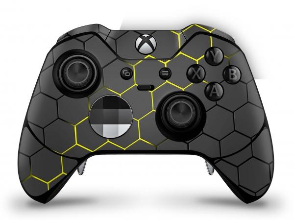 Microsoft Xbox One Elite Controller Skin Aufkleber Design Schutzfolie - Exo Yellow