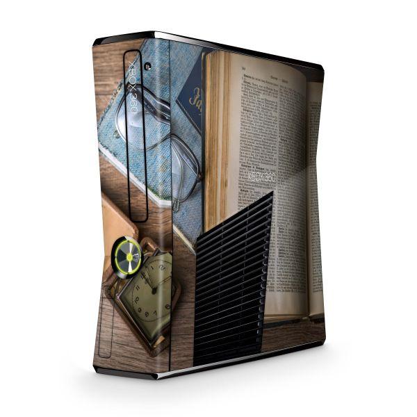 Xbox 360 Slim Skin Design Aufkleber Set Lesefieber