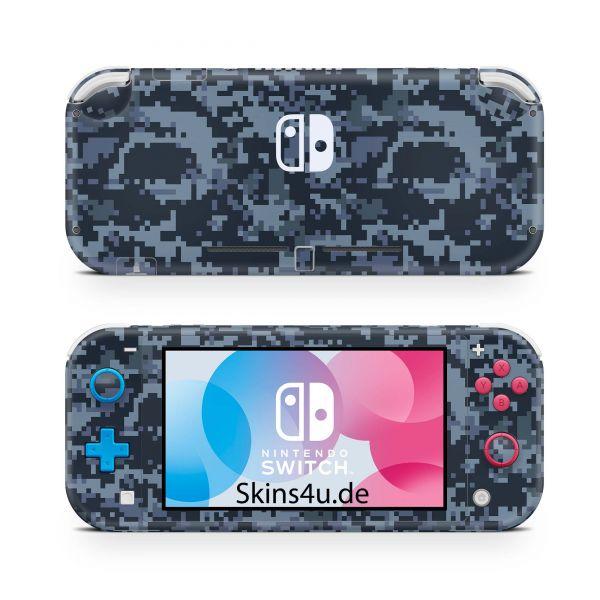 Nintendo Switch Lite Front & Back Skin Aufkleber Schutzfolie Digital navy camo