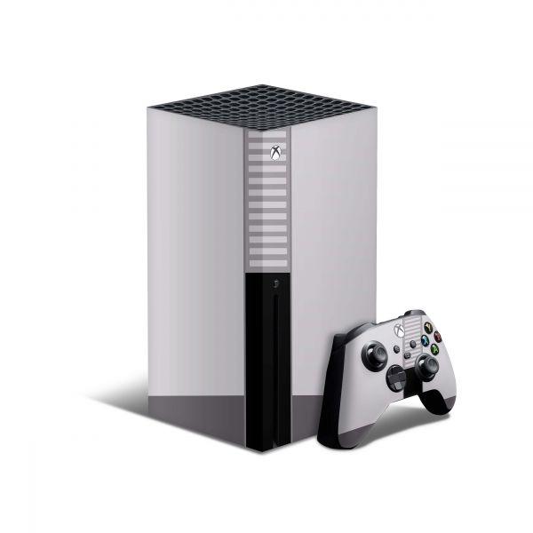Xbox Series X Skin Aufkleber Design Schutz Folie + Controller Skins Motiv Retro SNES