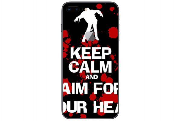 Apple iPhone 6 Aufkleber Designfolie - keep-calm-zombie-blk