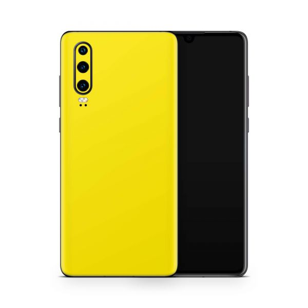 Huawei P20 Pro Skin Design Handy Schutzfolie Cover Solid State gelb