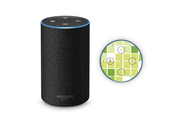 Amazon Echo Skin 2.Generation Schutzfolie Mosaik Green