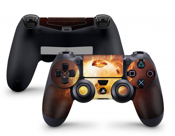 PLaystation 4 PS4 Controller Skin Design Aufkleber Design brennender Fussball