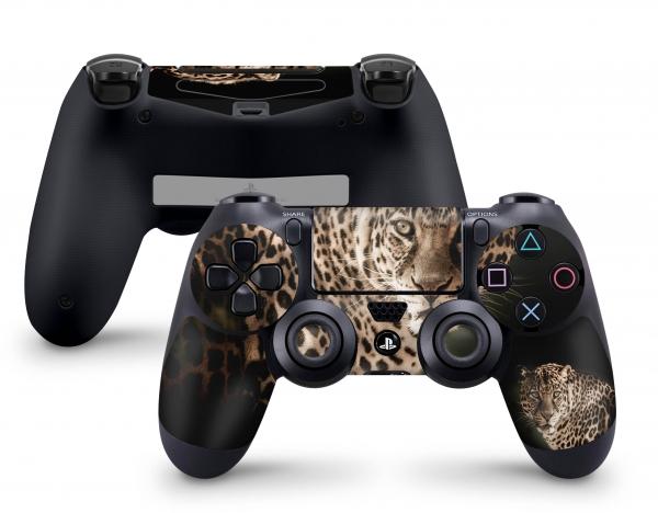 PLaystation 4 PS4 Controller Skin Design Aufkleber Design Leopard