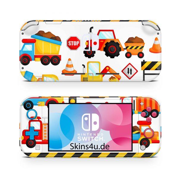 Nintendo Switch Lite Front & Back Skin Aufkleber Schutzfolie Baustelle