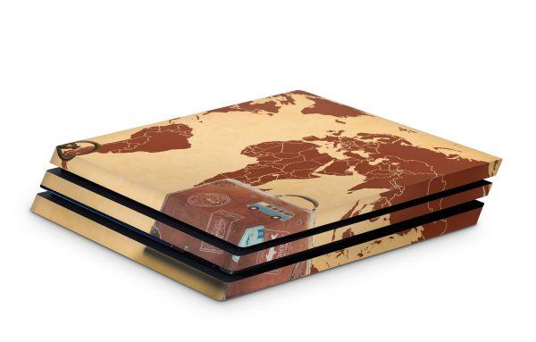 Playstation 4 Pro Skin Aufkleber PS4 Design Travel