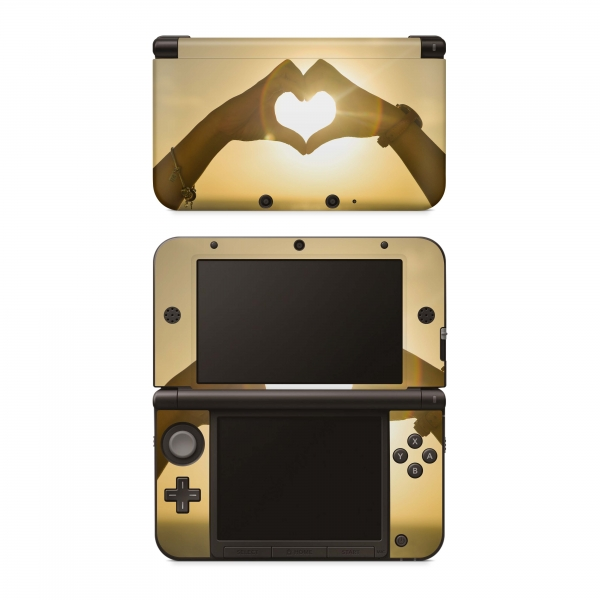 Nintendo 3DS XL Skin Aufkleber Design Schutzfolie Heart Hands