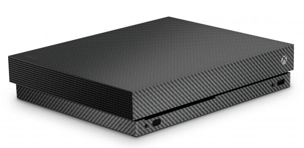 Xbox One X Schutzfolie Skin Aufkleber Design - Carbon