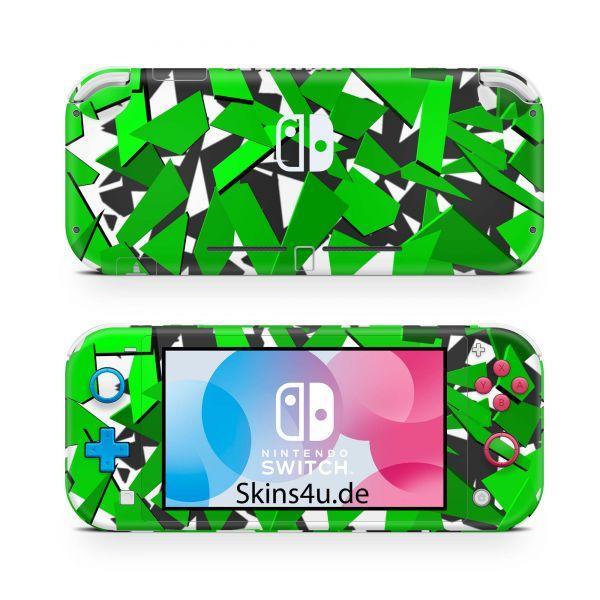 Nintendo Switch Lite Front & Back Skin Aufkleber Schutzfolie Signal green