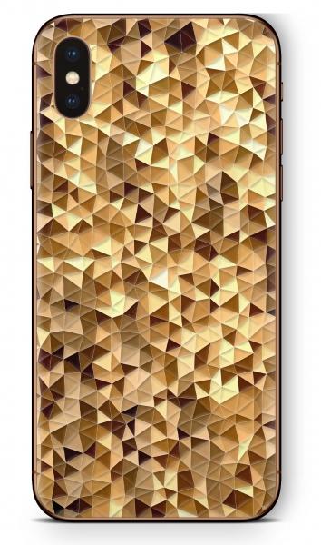 Apple iPhone XS MAX Skin Aufkleber Design Schutzfolie Golden Tri
